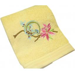 фото Полотенце подарочное с вышивкой TAC Lizard. Цвет: желтый