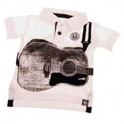 фото Футболка-поло для малышей с аппликацией Mini Shatsu Acoustic Guitar