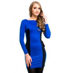 фото Платье Mondigo 5052. Цвет: синий. Размер одежды: 46