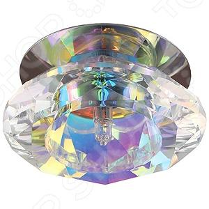 Светильник декоративный потолочный Эра DK12 CH/MIXСпоты встраиваемые<br>Светильник декоративный потолочный Эра DK12 CH MIX это изящный и стильный светильник, который способен ярко освещать целую комнату. Модель предназначена для людей, желающих создать дома атмосферу уюта и тепла, а быт сделать более комфортным. Потолочный светильник идеально подходит для помещений с низким потолком, поскольку занимает совсем немного места. Вы можете использовать его как единственный источник света или сочетать с выполненными в той же стилистике декоративными светильниками, создав в комнате необходимую атмосферу. Выполненный из перламутрового хрусталя и хромированного металла светильник Эра DK12 CH MIX, можно разместить в гостиной, зале или спальной комнате. Также подойдет в качестве источника света в местах общественного питания. Современный стиль и универсальная цветовая гамма изделия придадут любому помещению еще большей гармонии, эмоциональной наполненности и добавят нотку романтичности. Общая мощность светильника составляет 40 Вт и этого достаточно, чтобы осветить до 2 кв.м пространства. Рекомендуется использовать 1 галогенную лампу мощностью 40 Вт цоколь G9 . Степень защиты электротехнического оборудования: IP20.<br>