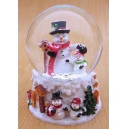 фото Декорация-шар музыкальная Star Trading 150305 «Снеговики»