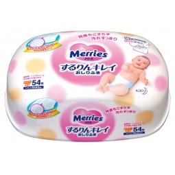 Купить Влажные салфетки детские в пластиковом контейнере Merries
