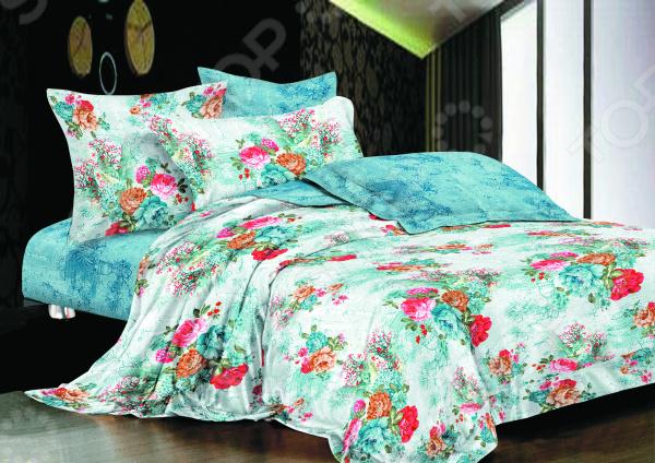Комплект постельного белья La Noche Del Amor А-673. ЕвроЕвро<br>Комплект постельного белья La Noche Del Amor А-673 это удобное постельное белье, которое подойдет для ежедневного использования. Чтобы ваш сон всегда был приятным, а пробуждение легким, необходимо подобрать то постельное белье, которое будет соответствовать всем вашим пожеланиям. Приятный цвет, нежный принт и высокое качество ткани обеспечат вам крепкий и спокойный сон. Сатин, из которого сшит комплект отличается следующими качествами:  достаточно мягка и приятна на ощупь, не имеет склонности к скатыванию, линянию, протиранию, обладает повышенной гигроскопичностью, практически не мнется, не растягивается, не садится, не выгорает, гипоаллергенна, хорошо отстирывается и не теряет при этом своих насыщенных цветов;  современное нанесение рисунка прекрасно передаёт цвет и мельчайшие детали изображения;  за счёт специального переплетения волокон ткань устойчива к механическим воздействиям.  Перед первым применением комплект постельного белья рекомендуется постирать. Перед стиркой выверните наизнанку наволочки и пододеяльник. Для сохранения цвета не используйте порошки, которые содержат отбеливатель. Рекомендуемая температура стирки: 40 С и ниже без использования кондиционера или смягчителя воды. Постельное белье позволит разнообразить весь ваш интерьер. Ведь застеленная таким красивым комплектом кровать не может не привлекать взгляд. Приятная цветовая гамма и классический рисунок наполнят спальню особым шармом и теплом. Каждая минута, проведенная в комнате, будет вызывать исключительно приятные эмоции. Если к вам внезапно заглянут гости, то они без сомнения оценят ваш удачный вкус. В подарок идёт симпатичный магнитик, который принесет вам множество радостных моментов! Его можно использовать в качестве декорации холодильника или других металлических элементов. Этот комплект может стать прекрасным подарком на свадьбу или удачным подарком на любой праздник для ваших знакомых или родных!<br>