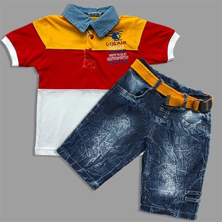 Купить Комплект: футболка и шорты Lemon «Футболист» C-130 Air. Цвет: желтый
