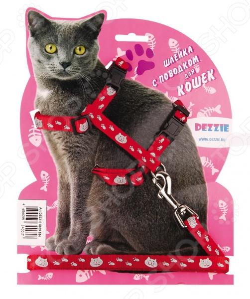 Набор для крупных кошек: шлейка и поводок DEZZIE «Тедди» набор для щенков шлейка и поводок dezzie 5609547