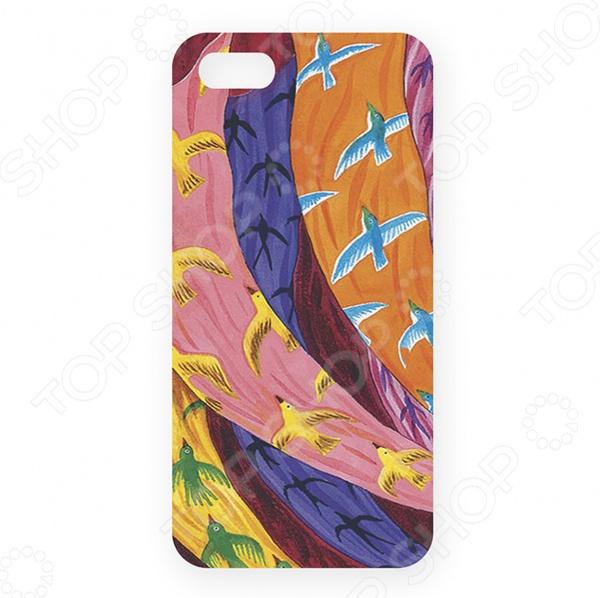 Чехол для iPhone 5 Mitya Veselkov «Платки и птицы-2»