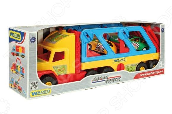 Машинка игрушечная Wader с авто-купе Super Truck игрушка wader super tech truck c грузовиком 36710