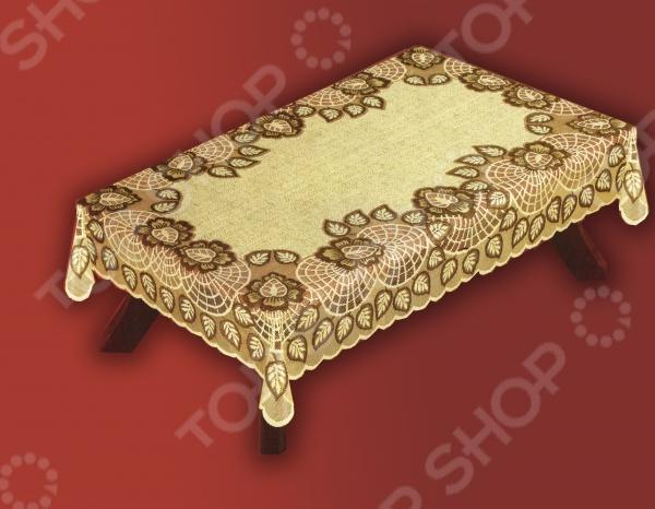 Скатерть Haft 38700. Цвет: коричневый