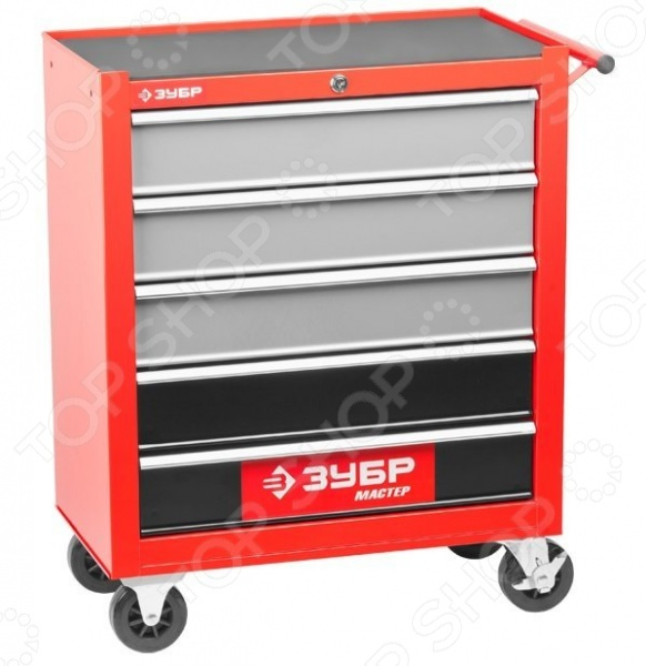 Тележка инструментальная Зубр «Мастер» 38905-5 тележка инструментальная keter с 5 ящиками drawer 2 3 22 38380 5