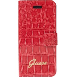 фото Чехол Guess Slim Folio Case Croco для iPhone 5. Цвет: красный