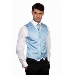 фото Жилет Mondigo 20634. Цвет: голубой. Размер одежды: L