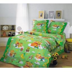 фото Ясельный комплект постельного белья Бамбино «Сладкий сон». Цвет: зеленый