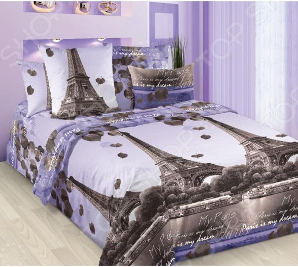 Комплект постельного белья Королевское Искушение «Романтика Парижа». Цвет: коричневый