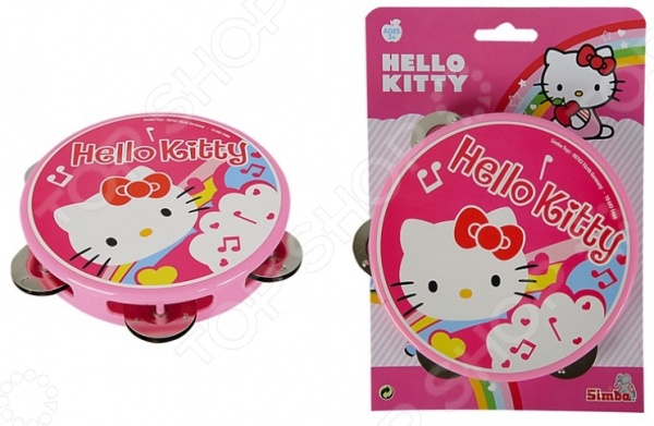 цена на Игрушка музыкальная для девочки Simba «Тамбурин» Hello Kitty