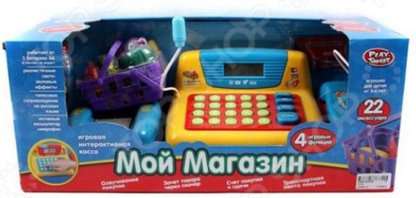 Игровой набор для девочки Shantou Gepai «Мой магазин со сканером и набором продуктов» игровой набор shantou gepai калькулятор с набором продуктов 1608a