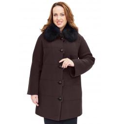 Купить Пальто Electrastyle «Валери». Цвет: шоколадный