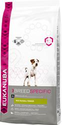 Корм сухой для собак Eukanuba BreedSpecific Jack Russell TerrierСухой корм<br>Корм сухой для собак Eukanuba BreedSpecific Jack Russell Terrier полноценный сбалансированный корм, специально разработанный для взрослых собак породы джек рассел терьер, а также подходящий для кормления собак пород парсон рассела, фокстерьера и бордер терьера. Основным компонентом корма является мясо. Содержит минералы для здоровья зубов, L-карнитин для естественного сжигания жира, повышенный уровень пребиотиков, витамин Е, умеренно ферментируемую клетчатку пульпа сахарной свеклы , способствующую эффективному всасыванию питательных веществ, и оптимальный баланс жирных кислот Омега-6 и Омега-3, помогающих сохранить здоровые кожу и шерсть. В состав корма входит система защиты зубов 3 Denta Defence. Не содержит искусственных красителей и ароматизаторов. Содержит разрешенные ЕС антиоксиданты токоферолы . У животного всегда должна быть свежая вода. Срок годности указан на упаковке. Хранить в сухом и прохладном месте. Полезные микроэлементы:    Белок   28,0     Жир   18,0     Омега-6 жирные кислоты   2,85    Омега-3 жирные кислоты   0,44     Сырая зола   7,40     Сырая клетчатка   2,20     Влажность   8,0     Кальций   1,30    Фосфор   1,05<br>