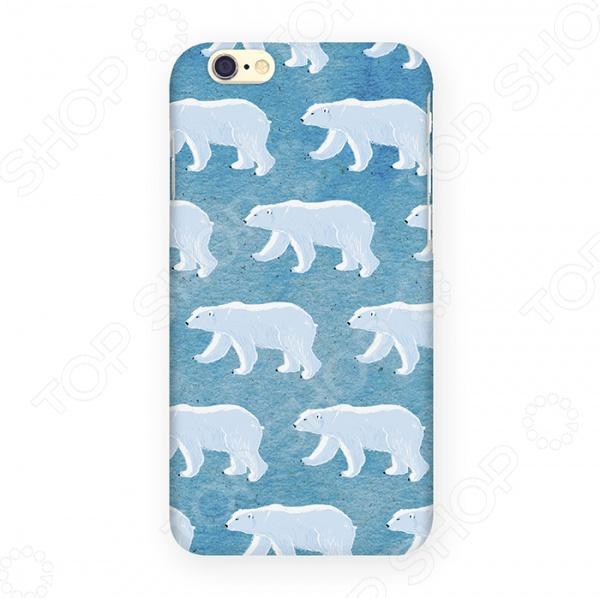 Чехол для iPhone 6 Mitya Veselkov «Северные мишки» северные срубы и дома