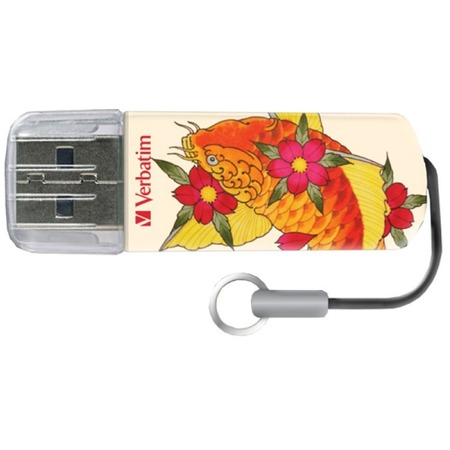 Купить Флешка Verbatim Mini USB Drive Tattoo Edition Fish 8Gb