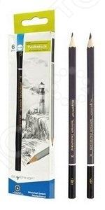 Набор карандашей простых Silwerhof Technisch включает в себя шесть чернографитовых карандашей. Эти канцелярские предметы пригодятся и ученикам в школе, и офисным работникам, и любителям рисовать. Пишущий стержень карандаша вставлен в деревянную оправу. Карандаш легко затачивается, а грифель не ломается.