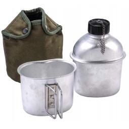 Купить Фляжка алюминиевая с кружкой в чехле BOYSCOUT 61444