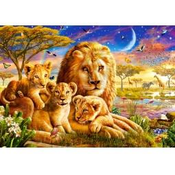 Купить Пазл 500 элементов Castorland «Семья львов»