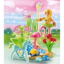 фото Конструктор игровой Playmobil «Принцесса: Сказочная Принцесса Лета с летающей лошадкой»