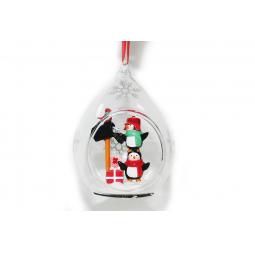 Купить Елочное украшение Crystal Deco «Письмо Санте от Пингвинов»