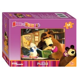 фото Пазл 54 элемента Step Puzzle «Маша и Медведь» 71120