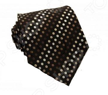 Галстук Mondigo 33505Галстуки. Бабочки. Воротнички<br>Галстук Mondigo 33505 это стильный мужской галстук коричневого цвета из высококачественной микрофибры, украшенный рисунком в горошек по диагонали. Галстук давно стал неотъемлемым аксессуаром мужского гардероба. Многие мужчины, предпочитающие костюмы или же вынужденные носить их по долгу службы, знают, что галстук это способ придать индивидуальности. Правильно подобранный галстук может многое рассказать о его владельце: о вкусе, пристрастиях и характере мужчины. Галстук сделан из качественного материала, который хорошо держит узел.<br>