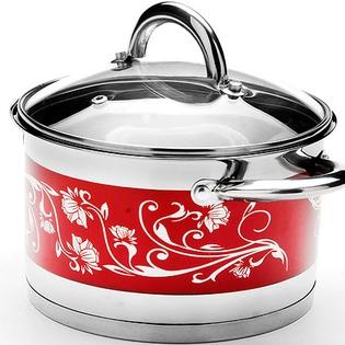 Купить Кастрюля с крышкой Mayer&Boch «Цветок». Цвет: красный