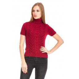 фото Свитер вязаный Mondigo 9004. Цвет: бордовый. Размер одежды: 44