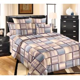 фото Комплект постельного белья Королевское Искушение «Техно». 1,5-спальный. Цвет: бежевый