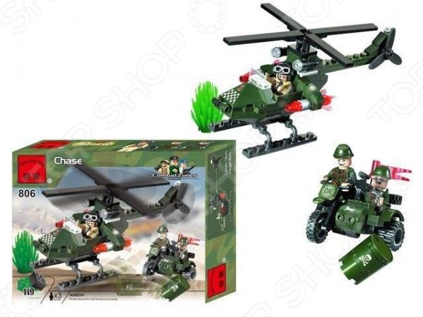 Конструктор игровой Brick Chase конструктор brick вертолет 818