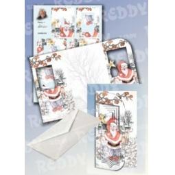 Купить Набор для создания открытки Reddy Creative Cards «Снеговик с фонариком»