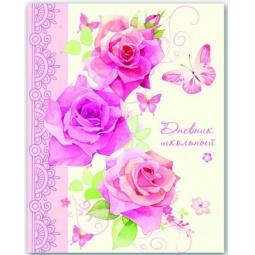 фото Дневник школьный ламинированный Феникс «Розовые розы»