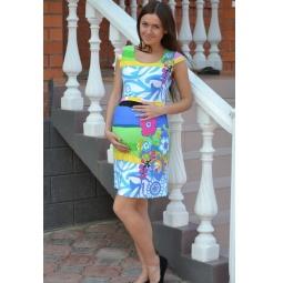Купить Платье для беременных Nuova Vita 2107 «Цветы»