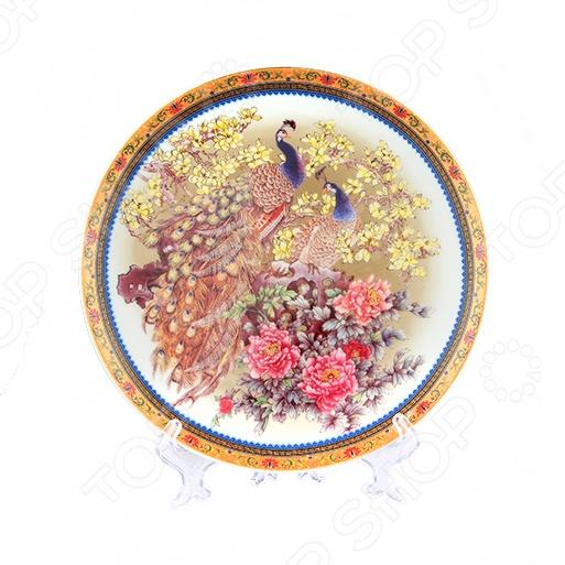 Zakazat.ru: Тарелка декоративная Elan Gallery «Павлин на белом»