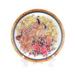 Купить Тарелка декоративная Elan Gallery «Павлин на белом»