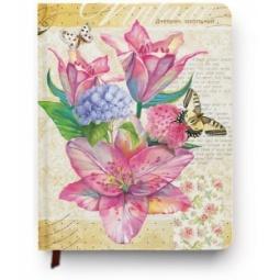 Купить Дневник школьный Проф-Пресс «Нежные цветы и бабочки»