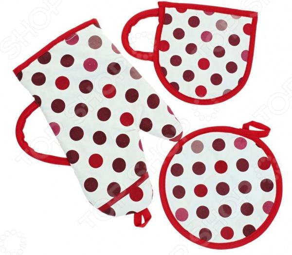 Комплект кухонный подарочный BONITA «Конфетти» полотенце valentini комплект кухонный 50x50 limoni fortes