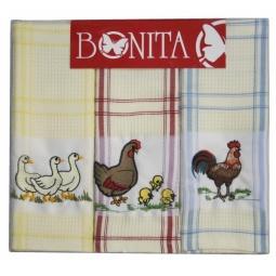 фото Комплект из 3-х полотенец подарочный BONITA «Птички»