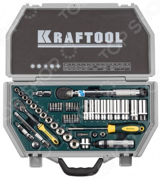Набор торцевых головок Kraftool Industrie Qualitat 27975-H49  головка торцевая ударная kraftool 46мм 3 4 industrie qualitat 27945 46 z01