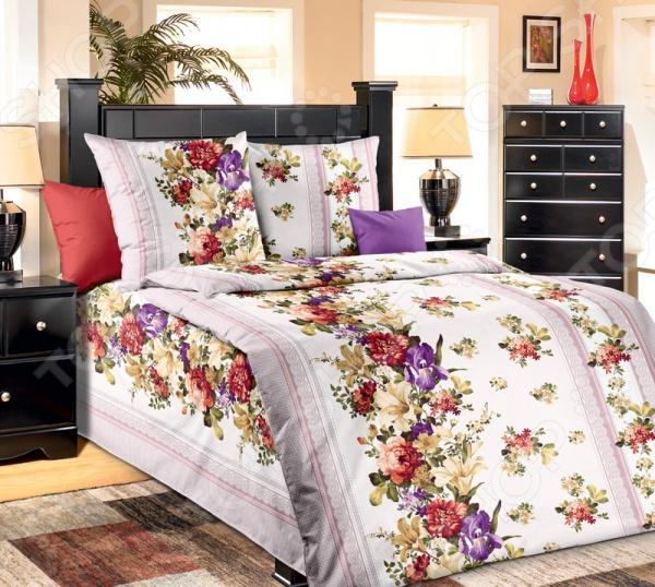 Комплект постельного белья Белиссимо «Мазурка». 1,5-спальный1,5-спальные<br>Комплект постельного белья Белиссимо Мазурка производится из высококачественной бязи, 100 хлопка. Использование особо тонкой пряжи делает ткань мягче на ощупь, обеспечивает легкое глажение и позволяет передать всю насыщенность цветовой гаммы. Благодаря более плотному переплетению нитей и использованию высококачественных импортных красителей, постельное белье Василиса выдерживает до 70 стирок. В качестве сырья для изготовления этого изделия использованы нити хлопка. Натуральное хлопковое волокно известно своей прочностью и легкостью в уходе. Волокна хлопка состоят из целлюлозы, которая отлично впитывает влагу. Хлопок дышит и согревает лучше, чем шелк и лен. Поэтому одежда из хлопка гарантирует владельцу непревзойденный комфорт, а постельное белье приятно на ощупь и способствует здоровому сну. Не забудем, что хлопок несъедобен для моли и не деформируется при стирке. За эти прекрасные качества он пользуется заслуженной популярностью у покупателей всего мира. Комплект постельного белья Белиссимо Мазурка выполнен из ткани бязь. Бязь это одна из самых популярных тканей. Постоянному спросу на такую ткань способствует то, что на протяжении многих лет она остаётся незаменимой в производстве постельного белья, медицинской одежды, мужских сорочек и даже детских пеленок. Это объясняется уникальными свойствами такой ткани: она неприхотлива и долговечна.<br>