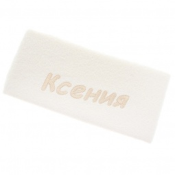 фото Полотенце подарочное с вышивкой TAC Ксения. Цвет: молочный