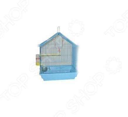 Клетка для птиц ZOOmark Домик просторное жилище для небольших птиц, в котором есть необходимые аксессуары для отдыха и принятия пищи. Такая клетка подойдет для таких птиц как: волнистые попугаи, амадины, канарейки и других мелких особей. Клетка сделана из облегченного материала. Конструкция отлично продумана для возможности любоваться окружающим видом и свободно передвигаться по клетке. Снабжена ручкой для удобной переноски.