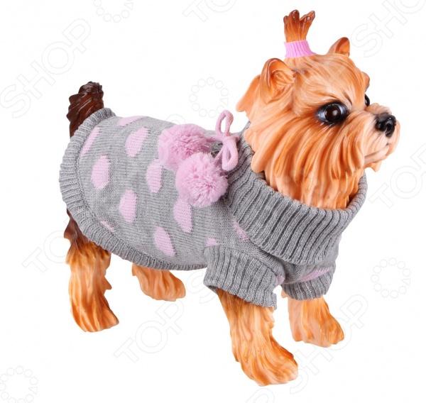 Свитер-попона для собак DEZZIE «Сьюзи»Попоны<br>Свитер-попона для собак DEZZIE Сьюзи замечательная вещь для заботливых владельцев собак, которые хотят обеспечить комфорт и уют своему питомцу. Изделие разработано с учетом анатомических особенностей животных, поэтому вашей собачке будет удобно и тепло. Кроме того, свитер смотрится очень модно. Ворот, низ и рукава изделия выполнены вязкой 2x2. Прекрасно сохраняет форму при носке.<br>