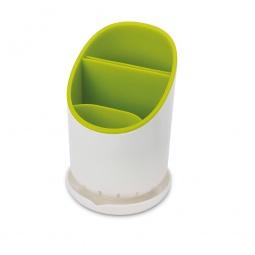 фото Сушилка для столовых приборов со сливом Joseph Joseph Dock. Цвет: зеленый