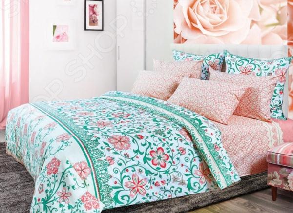 Комплект постельного белья Primavelle «Индори». 2-спальный2-спальные<br>Комплект постельного белья Primavelle Индори 175160700 это сочетание прекрасного качества и стильного современного дизайна. Он внесет яркий акцент в интерьер вашей спальной комнаты, добавит ей элегантности и изысканности. В набор входит пододеяльник, простынь и две наволочки. Постельное белье выполнено из высококачественной бязи и украшено оригинальным цветочным принтом. Бязь представляет собой плотную хлопчатобумажную ткань полотняного переплетения. Она отлично зарекомендовала себя в пошиве постельного белья, благодаря своей воздухопроницаемости, легкости и устойчивости к истиранию. Ткани и готовые изделия производятся на современном импортном оборудовании и отвечают европейским стандартам качества. Рекомендуется стирать белье в деликатном режиме без использования агрессивных моющих средств.<br>