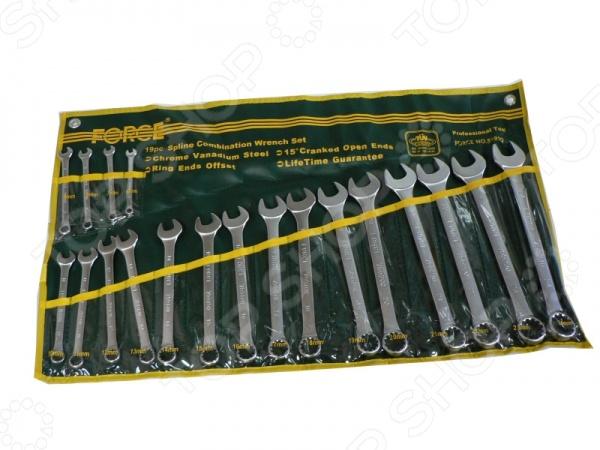 Набор ключей комбинированных Force F-5191Q  force 5121 набор комбинированных ключей 8 23 мм